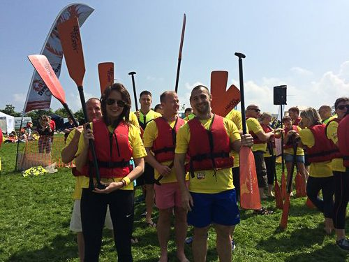 Puffin Produce team at the Dragon Boat Race 2016