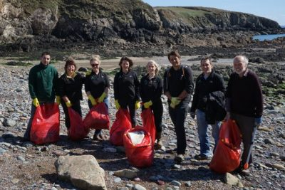 The Puffin Produce Team at Porthlisky Beach