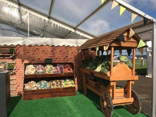 Vegetables  on display at County Show