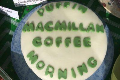 Puffin Macmillan Coffee Morning Cake