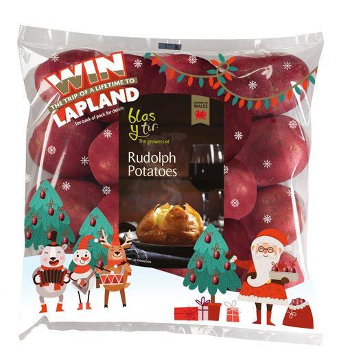 Rudolph Potatoes Christmas Packaging 2016