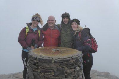 At the summit of Snowdon