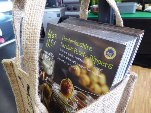 Recipe Cards were given away at the Royal Welsh Show