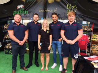 Scarlets at the Puffin Produce stand at the Pembrokeshire County Show