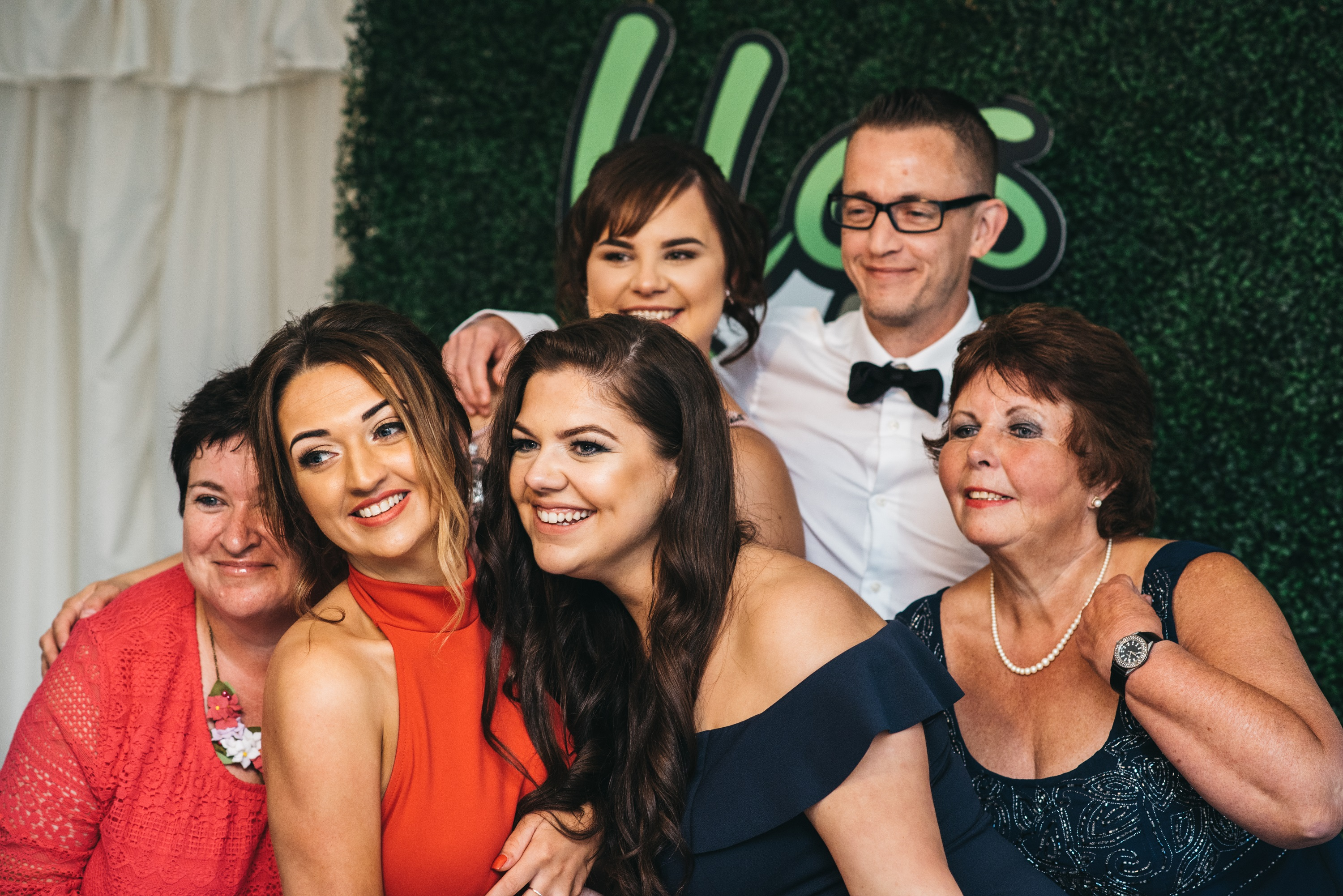 Puffin Produce Staff enjoying the photobooth at the Blas y Tir Charity Ball