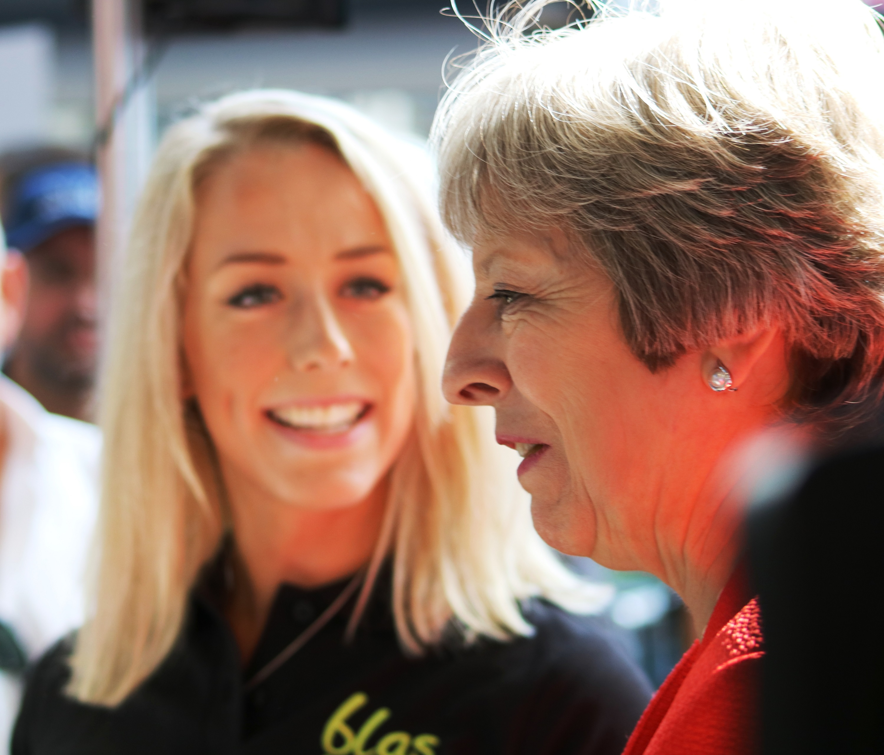 Marketing Manager Megan with Prime Minister Theresa May at the Royal Welsh Show 2018