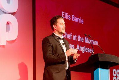 Chef Ellis Barrie at Coop Welsh Supplier Awards_2019