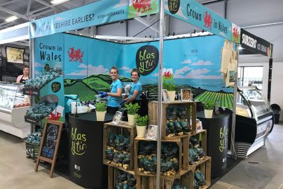 displaying Pembrokeshire produce on the Pembrokeshire County Council stand