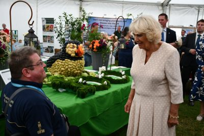 Duchess of Cornwall with Potato Puffin at the Royal Welsh Show 2019